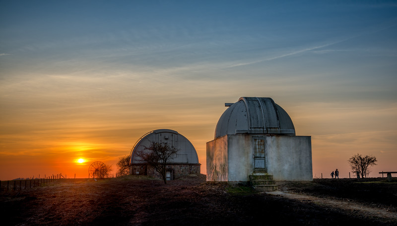 The Old Observatory at Brorfelde in Denmark sitting in the sunset on an early spring evening. Looks like it's going to be a night, worth watching the stars. Photo by: Jacob Surland, www.caughtinpixels.com