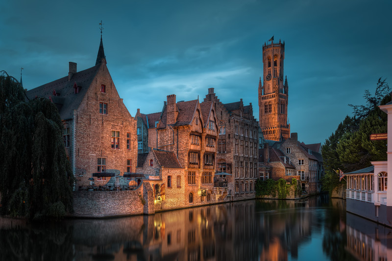 Near Venice Corner in the medieval town Bruge, Belgium, you find this beautiful view. Along with Amsterdam it's called the Venice of the north and it really is. Photo by Jacob Surland, www.caughtinpixels.com